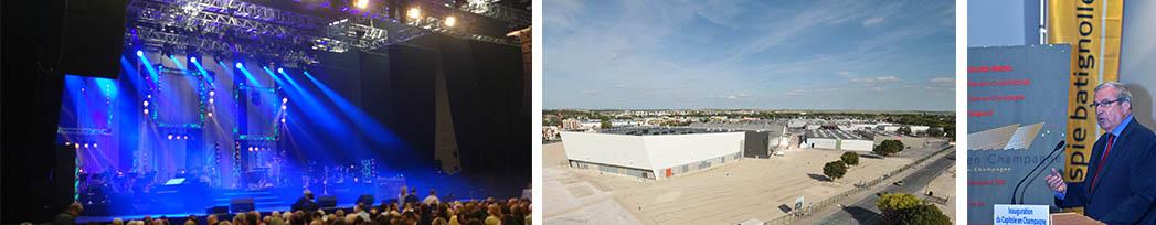 Inauguration du Parc des Expositions à Châlons-en-Champagne