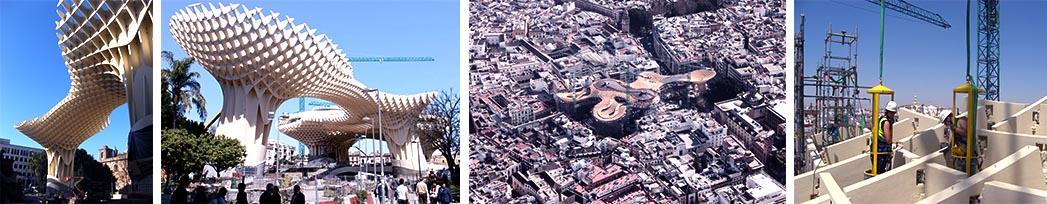 Inauguration Metropol Parasol à Séville