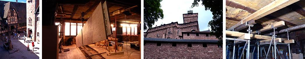 Restauration des planchers de la Maison Alsacienne du Château du Haut-Koenigsbourg