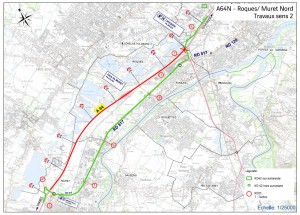 Plan A64 Roques-Muret Nord