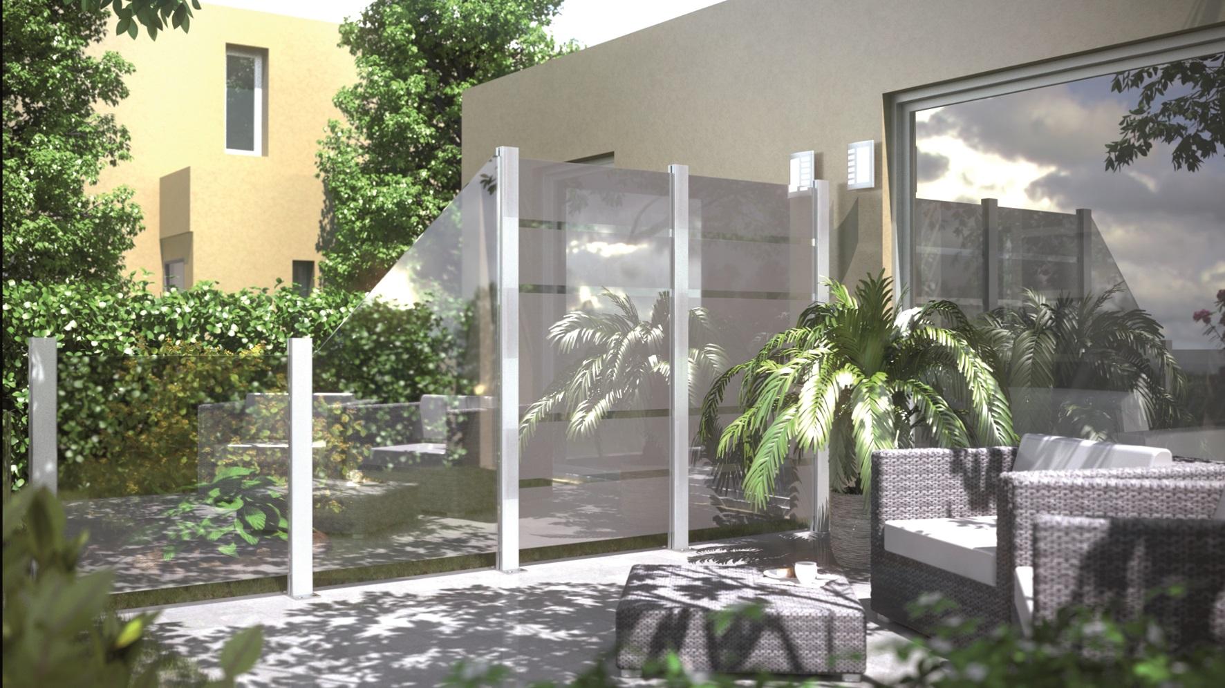 creer un brise vue original exubrante et flamboyante diy panneau bois extrieur motif chevron. Black Bedroom Furniture Sets. Home Design Ideas